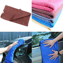 1PC 30*70cm Soft Microfiber Cleaning Towel Car Auto Wash Dry Clean Polish Cloth Car Styling Tools(China)