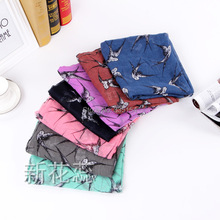 2015 Spring Women Swallow Bird Scarf Women Animal Cotton Voile Shawls Scarf 7Colors10PCS/lot