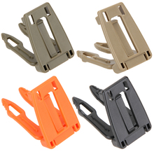 5pcs/lot Molle Tactical Buckle Clip Strap EDC Molle Backpack Carabiner Webdom Webbing Connecting Buckle Clip Quick Slip Keeper