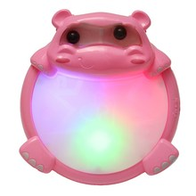 2209-10 Kids Puzzled Hippo Music Light Drum Early Education Toy Musical Sound Beat Fun Gift(China)