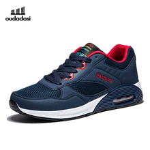 OUDADASI 2017 Newest Sports Shoes Mens Sports Shoes Running Air Cushion Mens Sport Trainers Black/Red Jogging Shoes Men Cheap
