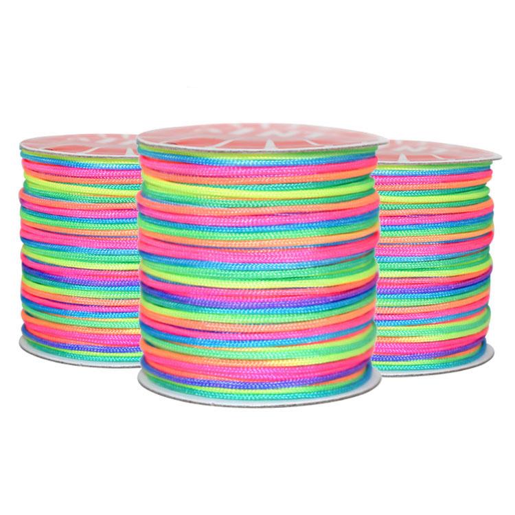 Trimming Shop Hilo de coser el/ástico Arco iris de 1 mm de ancho para fruncir Bobina de hilo el/ástico para confecci/ón de prendas y joyas Rollo completo de 100 Metro de cable el/ástico