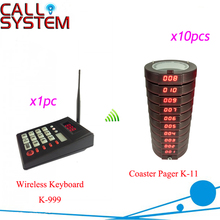 Electronic Coaster Pager System for fast food restaurant, fast-service calling equipment 1 Transmitter 10 mini receivers