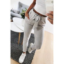 Buy 2018 fashion women mid waist shirley pants suede taupe Casual female trousers autumn winter Leather bottoms female trouser for $10.87 in AliExpress store