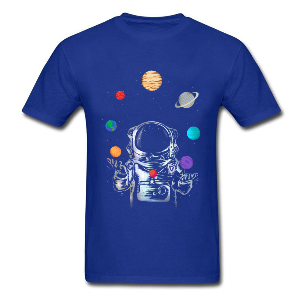 Space Circus Crazy Labor Day 100% Cotton Round Neck Male Tops & Tees Party T-shirts Plain Short Sleeve Tshirts Space Circus blue