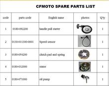 Magnetic motor stator/oil pump/speed sensor/handle pull starter/clutch pad with spring suit for  CF500/600 ATV