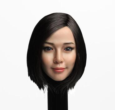 SUPER DUCK SDH010A Asia Black Long Hair Female Head Sculpt F 12/'/' Action Figure