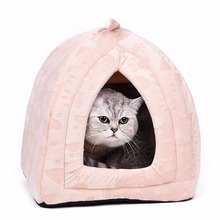 Warm Cotton Cat Cave House Pet Bed Pet Dog House Lovely Soft Suitable Pet Dog Cushion Cat Bed House High Quality Products(China)