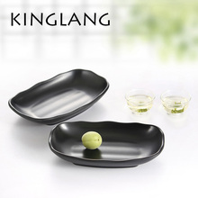 Hot sale one set plastic dinnerware three sizes platter sashimi sushi korean restaurant use plate