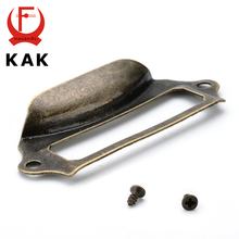 KAK Antique Brass Metal Label Pull Frame Handle File Company Name Card Holder For Furniture Cabinet Drawer Box Case Hardware