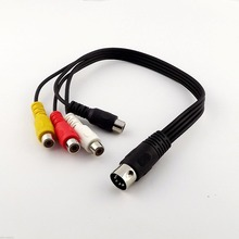 1pc 1ft Midi Din 5 Pin Male to 4x RCA Phono Female Sockets Adapter Audio Video Cable