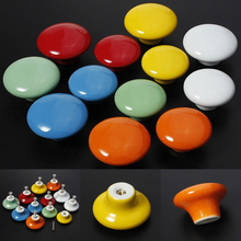 2pcs Modern Round Ceramic Door Knob Cabinets Drawer Pulls Kitchen Cupboard Handles Furniture Hardware Pull Handle Knobs