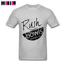 XXXL Rush Bowls Unique Boys Shirts Rush Band Custom Short Sleeve Valentine's Design Your Own T Shirt