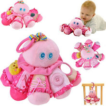 Kids Developmental Activity Toys Baby Car Pram Toy Animal Handbell Stroller Bell Kids Gifts Stuffed Toys