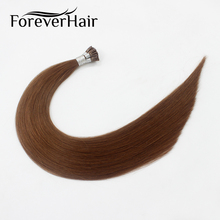 "FOREVER HAIR 0.8g/s 20"" Remy Pre Bonded Human Hair Extension Middle Brown #6 European Human Hair Fusion Hair Extension I Tip 40g"