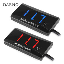 DARHO DC 8-16V LED Digital Display Voltmeter Mini Voltage Meter Volt Tester Panel for DC 12V Cars Motorcycles Vehicles HT856(China)