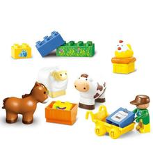 BOHS  Junior Farmer Baby Building Blocks Happy Farm Horse Animal Games Assembled Building Blocks, for 1.5-5 years old