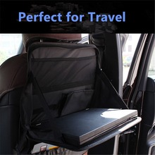 Universal Car Laptop Holder Auto Back Seat Dining Table Laptop Stand Travel Tray Organizer Vehicle Seat iPad Drink Food Holder(China)