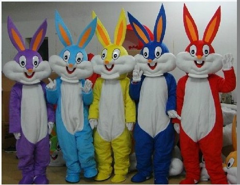BING RUI CO NEW Bugs Bunny Rabbit Mascot Costume Adult Character Costume Cosplay mascot costume free shipping