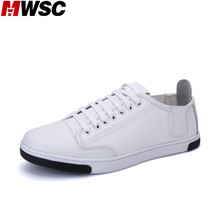 MWSC Brand New Casual Men White Shoes Flats Leather Shoes Breathable Patchwork Flat with Footwear(China)