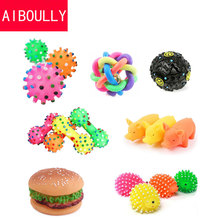 Dog Toys Pet Puppy Chew Squeaker Squeaky Plush Sound Cute Ball Vegetable Chicken 7 Styles Designs Toys Pet Product(China)