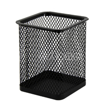 S-home New Black Rectangular Mesh Style Pen Pencil Holder Office Desk Organizer Container MAR29