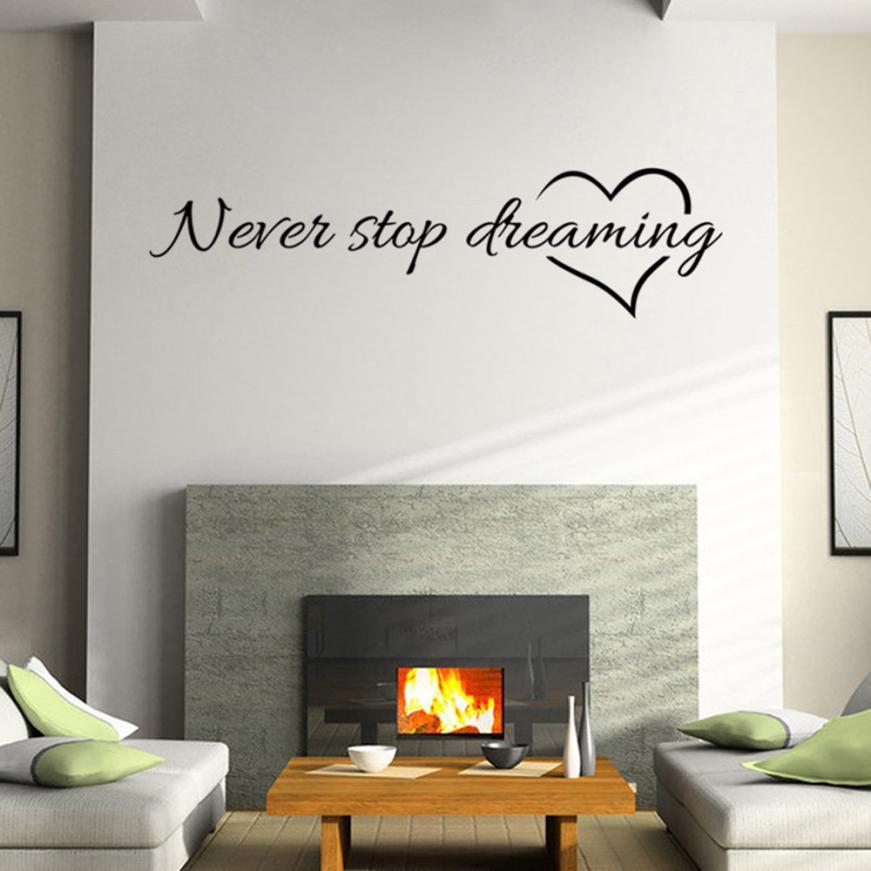 HTB1fpMSRXXXXXcqXXXXq6xXFXXXj - Never Stop Dreaming Removable Wall Sticker