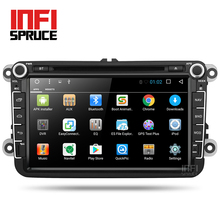 Android 7.1 Car DVD for VW Volkswagen SKODA GOLF 5 Golf 6 POLO PASSAT B7 T5 CC JETTA TIGUAN car radio gps stereo with CD play(China)