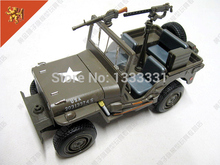 new 1:24 Pull Back Acousto-optic Toys for kids Alloy Antique Car Model Wholesale for Army Jeep Wyllis MB children gift
