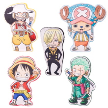 Anime One Piece fighre plush pillow, Creative cartoon One Piece luffy zoro sanji chopper Usopp plush toys Cushion 3D pillow 50cm(China)