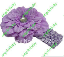 100pcs Children's Crochet headband peony Hair clip hair barrettes peony hair bands