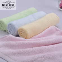 New 2016 Baby Towel -- 16pc/Lot 25*48cm Bamboo Hand Towel Baby Face Cloth Plain Dyed Children Bibs Soft Towels bathroom