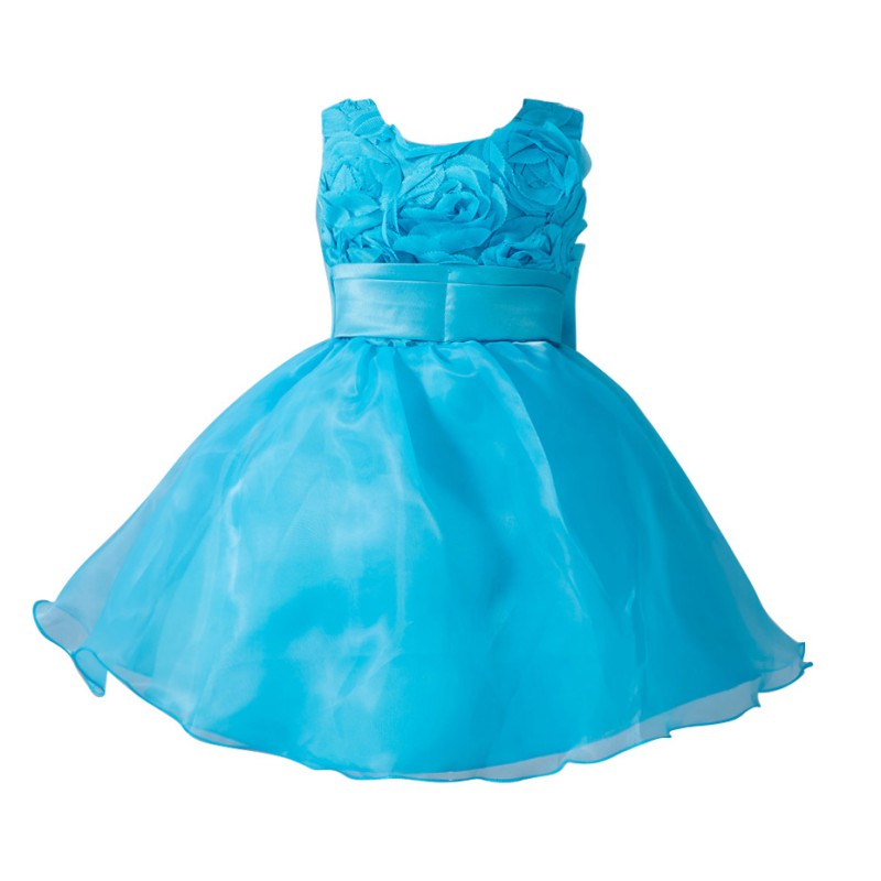 Summer Fashion Baby Girls Dresses Flower Girl Baby Toddler Clothes Princess Wedding Party Pageant Fancy Tutu Dress<br><br>Aliexpress