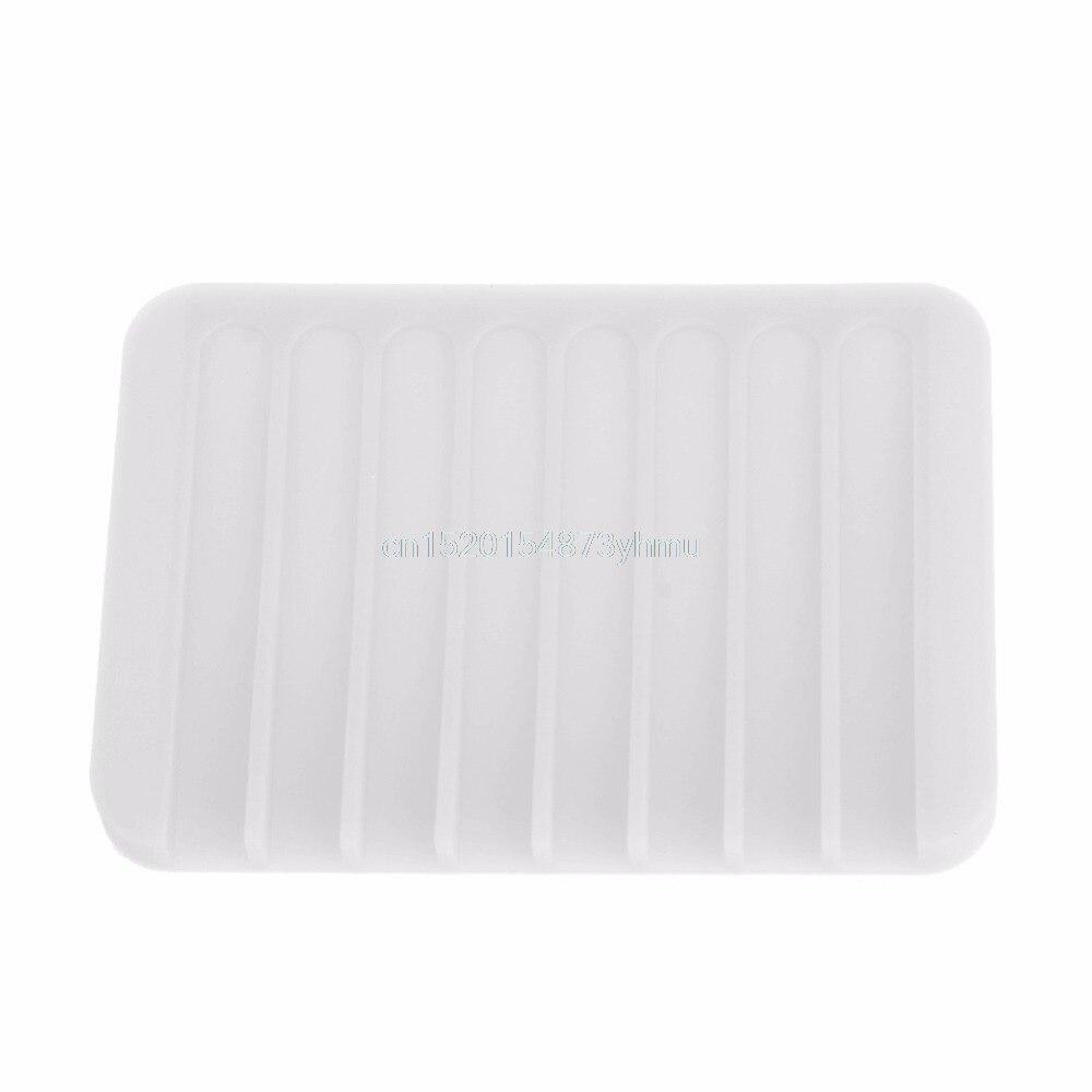 Fashion Silicone Flexible Soap Dish Plate Bathroom Soap Holder Soap Box #L057# new hot