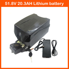 Free Customs Duty 51.8V Lithium battery 51.8V 20.3AH Electric Bike Battery 52V 20AH Bicycle battery Use Panasonic 2900mah cell