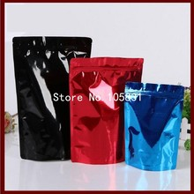 100x Red / blue / black colored zip lock aluminum foil vacuum sealer bags for food retail package Free Shipping Wholesale