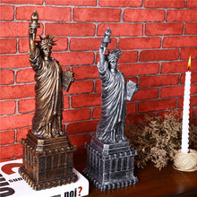 14 Inch 3D Cube Craft Stand The Statue of Liberty Statue Models Craft Vintage Home Desktop Decoration Figurine & Miniatures