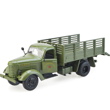 Alloy jiefang truck model warrior military transport kid car toys children's day christmas new year gift collection of ornaments