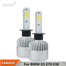 2x H1 Canbus COB Car LED Headlights Bulb 72W 8000LM 6500K 12V High Low Beam Headlamps For BMW X5 E70 E38 740I 740IL 750I 750IL