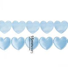 Terylene Satin Baby Shower Ribbon gift packing DIY crafts bow wedding Blue Love Heart Baby Boy 16mm,1 Roll(18.4M)