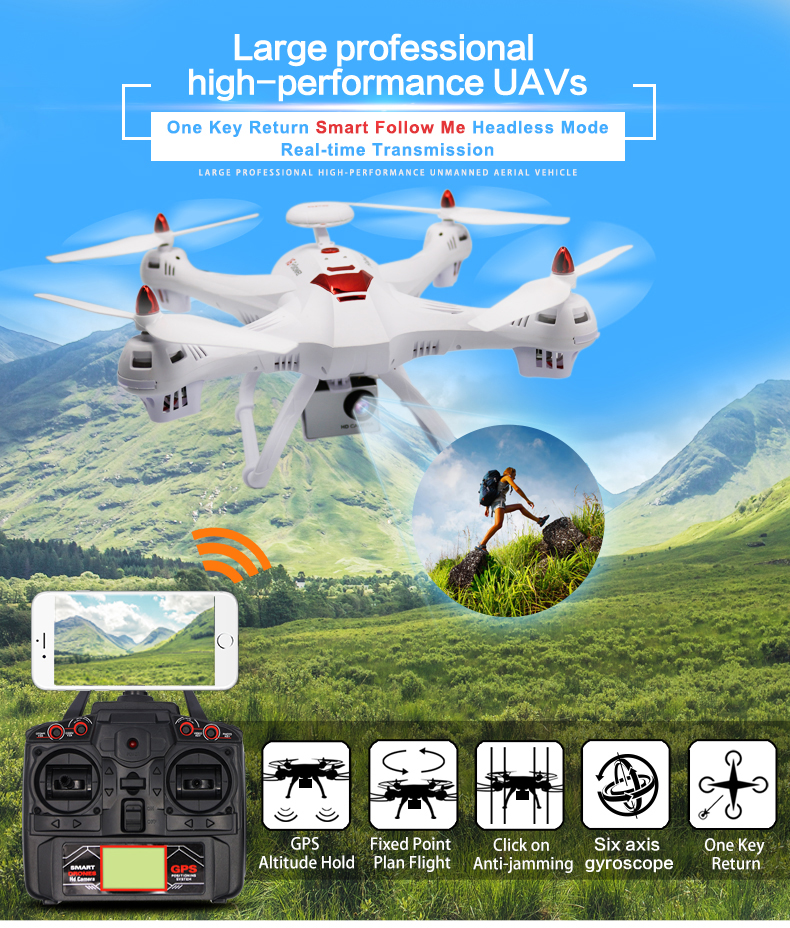 X183 Dual GPS Drone Follow me (1)
