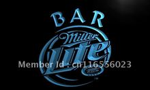 LA406- Miller Lite Bar Beer   LED Neon Light Sign     home decor shop crafts