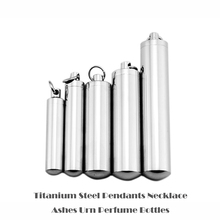 Stainless Steel Urn Keepsake Jewelry Cylinder Perfume Bottle Pendants Necklace Openable Put in Ashes Memorial Men Women 5 Sizes(China)