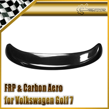 Discount Car Styling For Volkswagen VW Golf 7 MK7 GTI TSI Carbon Fiber Type B Rear Trunk Roof Spoiler In Stock(China)