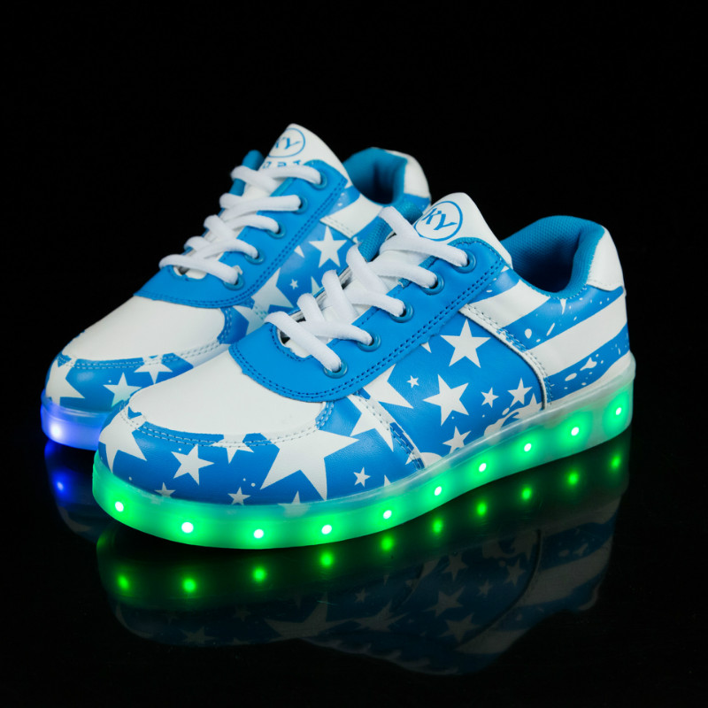Believed Toddler /& Kids LED Shoes Boy /& Girls USB Rechargeable Light Up Sneakers