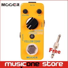 MOOER YELLOW COMP Optical Compressor Effect Guitar Pedal sound with smooth attack and decay further more+Free Connector(China)