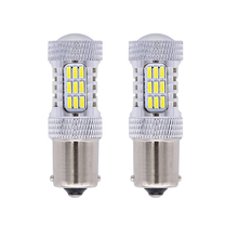 2pcs High Brightness 900 Lumens 1156 P21W BA15S 1141 1095 7506 Base 4014 45SMD Lens LED Replacement Light Bulbs
