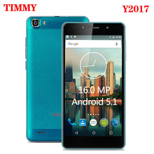 Original Y2017 Mobile Phone 5.5 inch screen 16MP camera Telephone MTK6580 Quad Core Android 5.1 Dual Sim Cell Phone GSM/WCDMA(China)