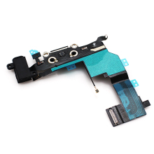 Black Charger Port Dock Connector Flex Cable Chager Repair Spare Parts Replacement  For iphone 5s  Free shipping !!!