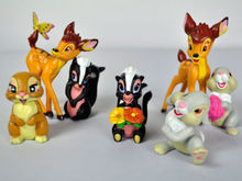 "7Pcs Lovely Toys Bambi Flower Thumper Complete Set Action Figures Toys 2.5-3""#LC"